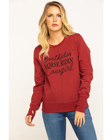 Shyanne Life Women's Rust Cowgirl Sweatshirt , Rust Copper, hi-res