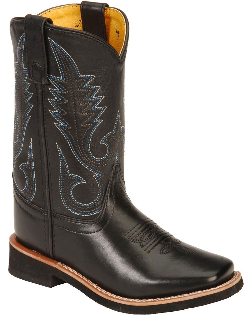 Smoky Mountain Youth Western Boots - Square Toe, Black, hi-res