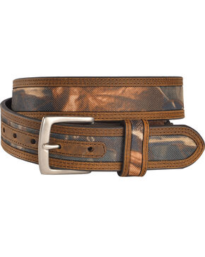 American Worker Men's Mossy Oak Fabric Belt , Camouflage, hi-res