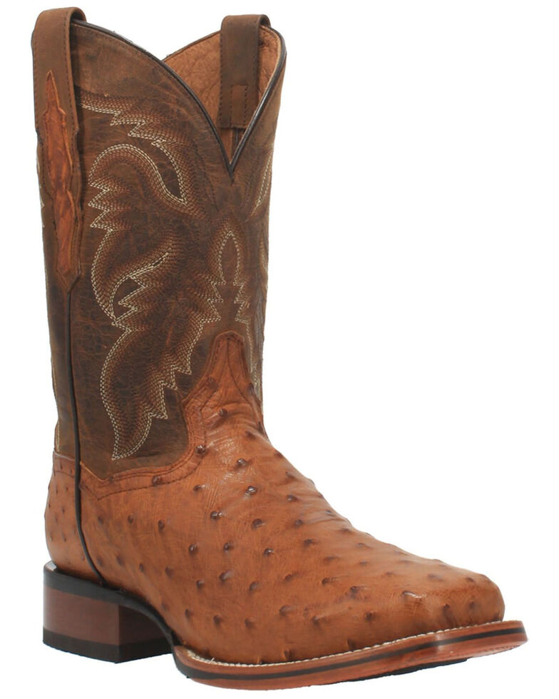 Dan Post Men's Brown Alamosa Western Boots - Wide Square Toe, Brown, hi-res