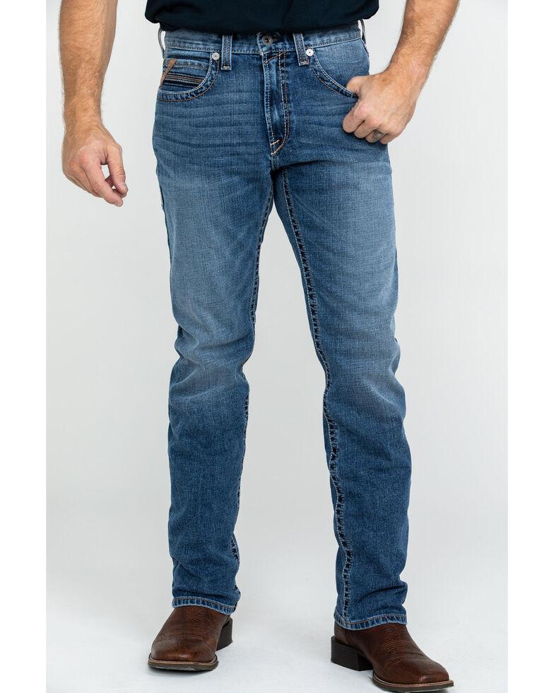 Ariat Men's M1 Vintage Stackable Stretch Straight Jeans , Blue, hi-res