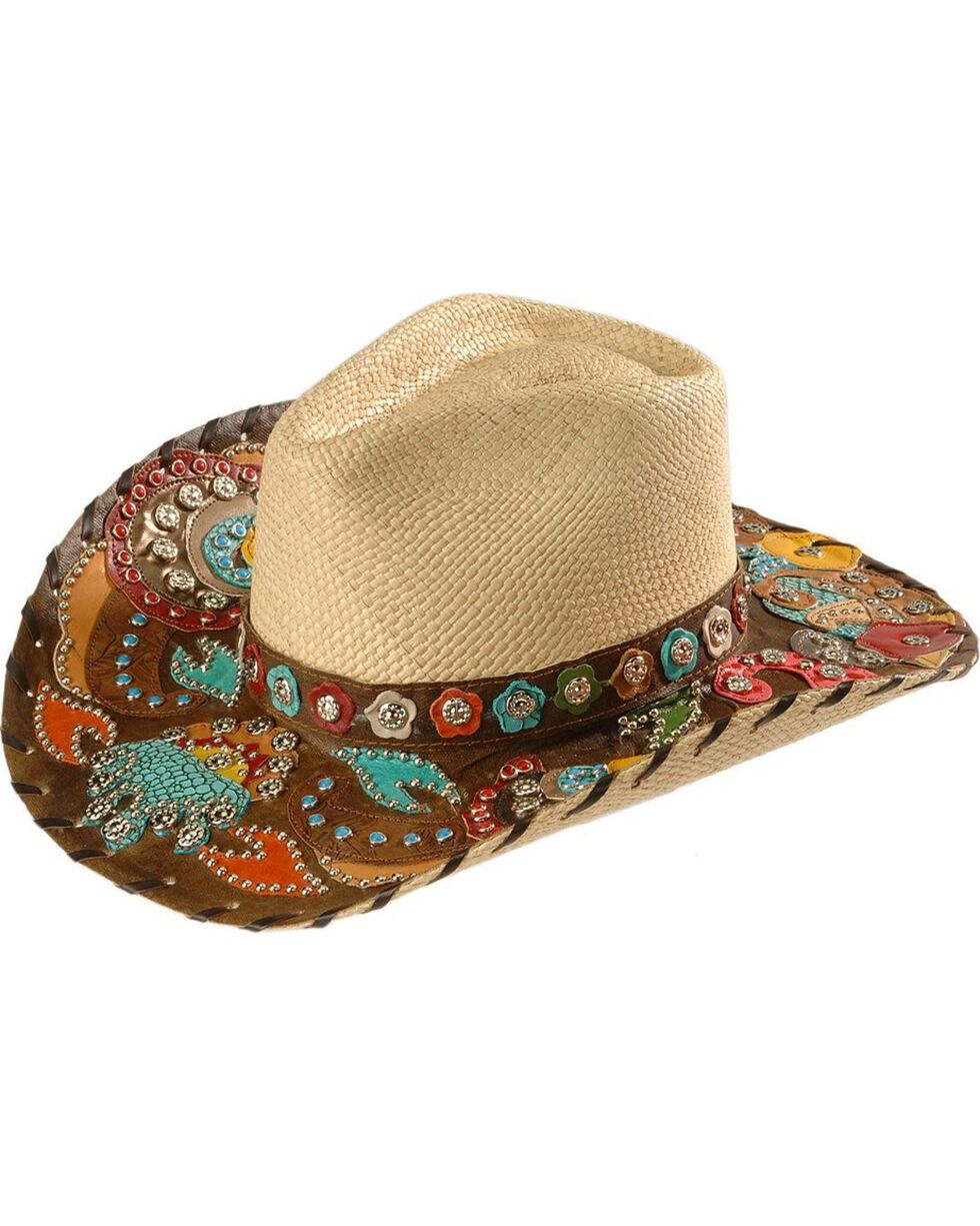 Bullhide Women's Gypsy Queen Straw Hat, Natural, hi-res