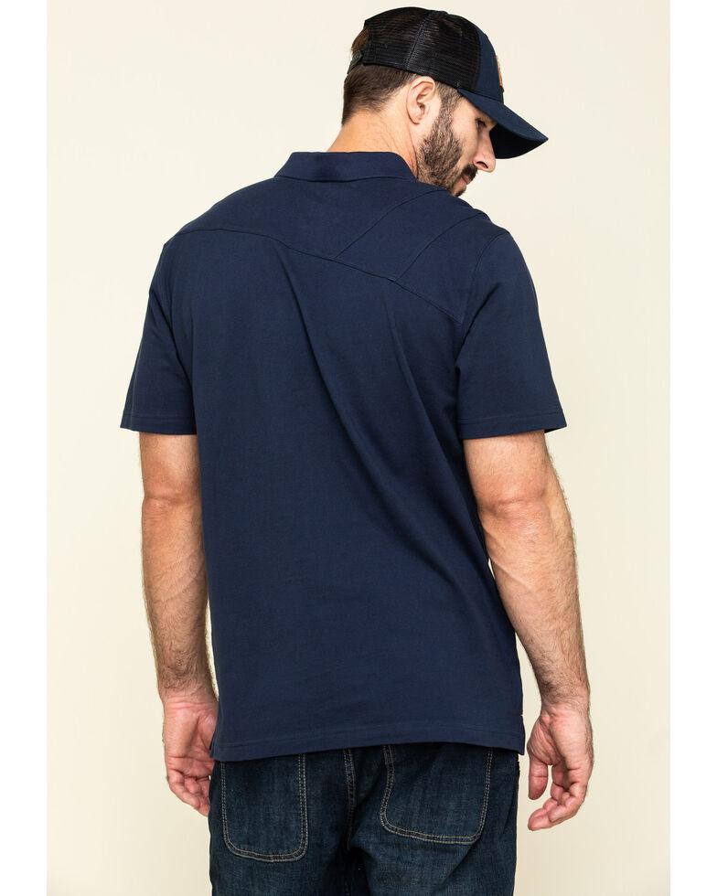 Hawx Men's Navy Miller Pique Short Sleeve Work Polo Shirt - Big , Navy, hi-res