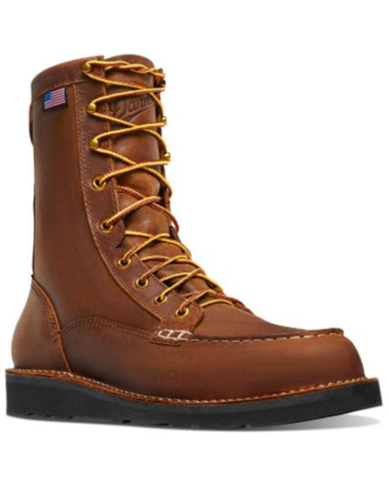 Danner Men's Bull Run Lace-Up Work Boots - Soft Toe, Black, hi-res