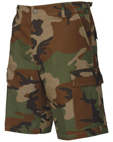 Tru-Spec Men's Woodland Camo BDU Shorts, Camouflage, hi-res