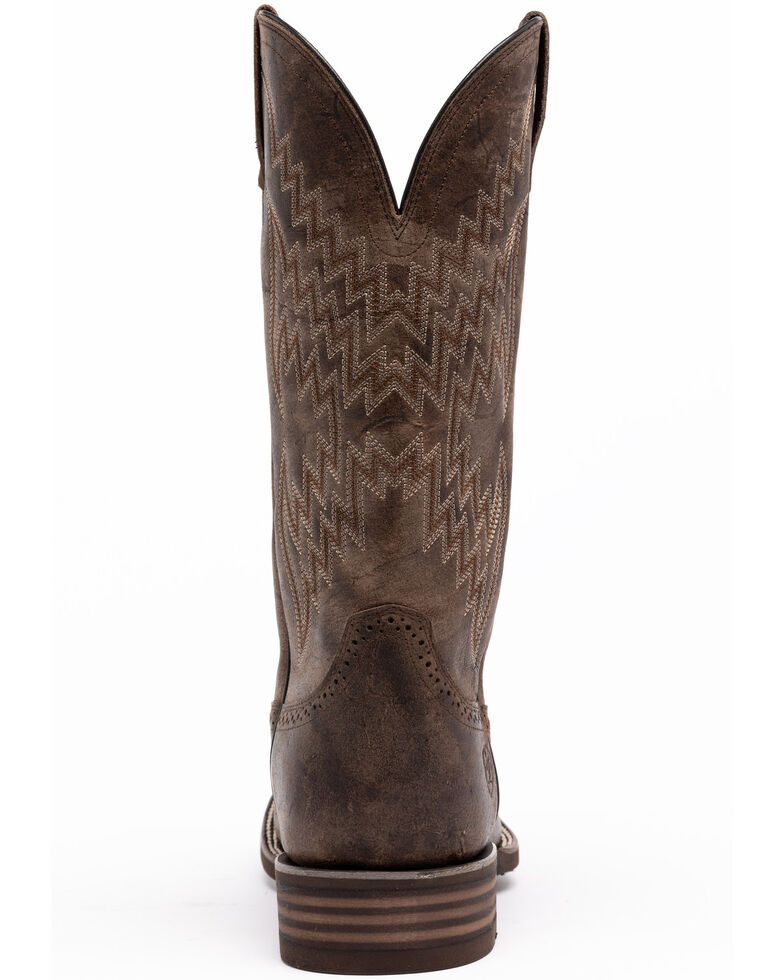 Ariat Men's Quickdraw Tycoon Western Boots - Wide Square Toe, Brown, hi-res