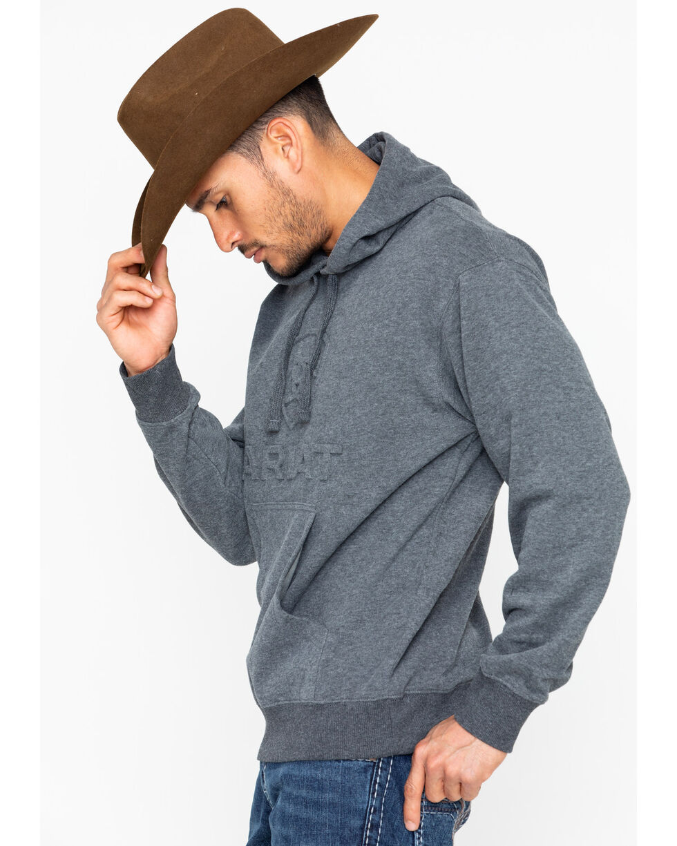 Ariat Men's Branded Hoodie Sweatshirt , Charcoal, hi-res