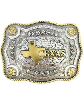 Cody James® Dual-Tone Texas Buckle, Multi, hi-res