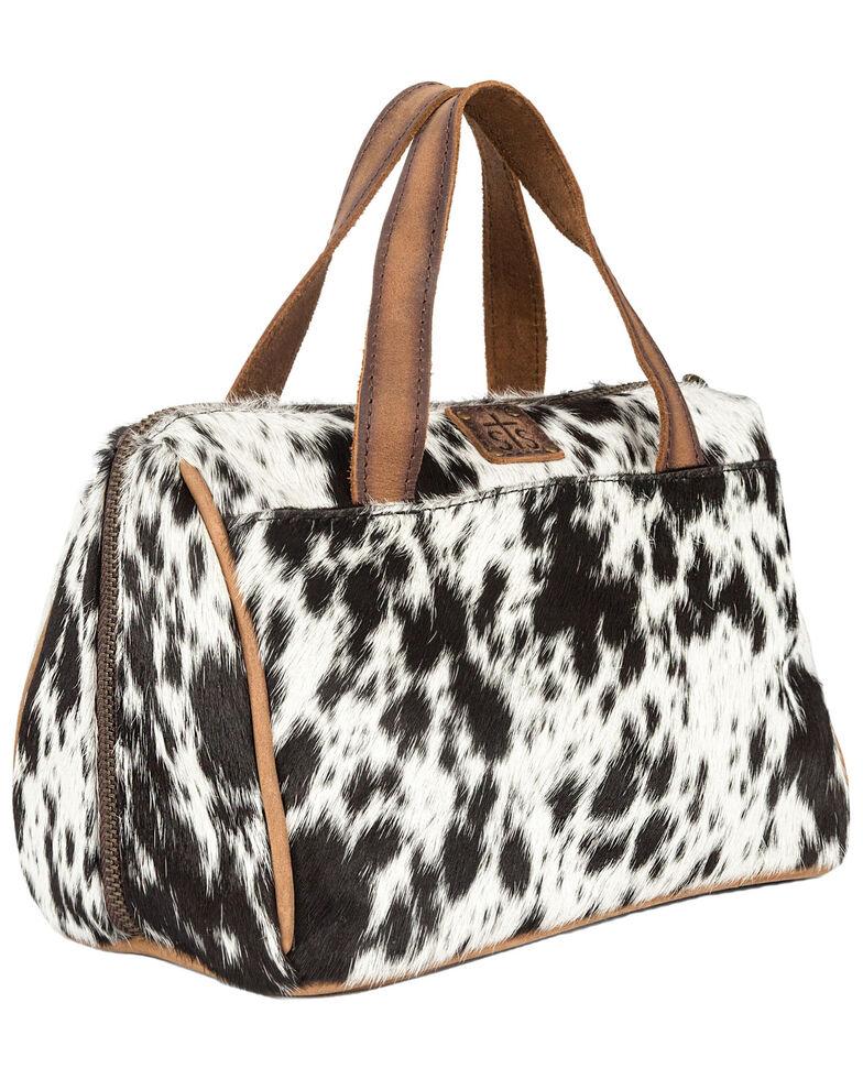 STS Ranchwear Women's Cowhide Makeup Bag, Brown, hi-res