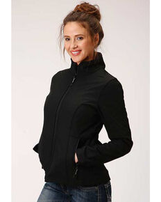 Roper Women's Black Soft Shell Bonded Fleece Lined Jacket , Black, hi-res