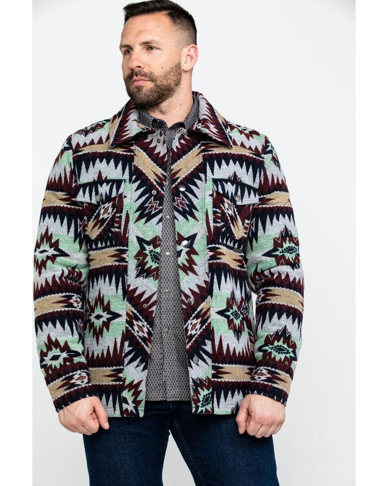 Powder River Outfitters Men's Aztec Commander Wool Jacket , Green, hi-res