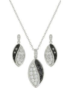 Montana Silversmiths Women's Budding Lily Jewelry Set, Silver, hi-res