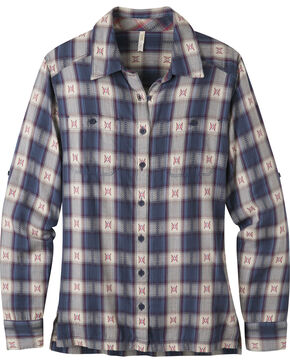 Mountain Khakis Blue Plaid Women's Tavern Flannel Shirt , Blue, hi-res