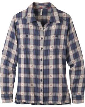 Mountain Khakis Blue Plaid Women's Tavern Flannel Shirt , Blue, hi-res