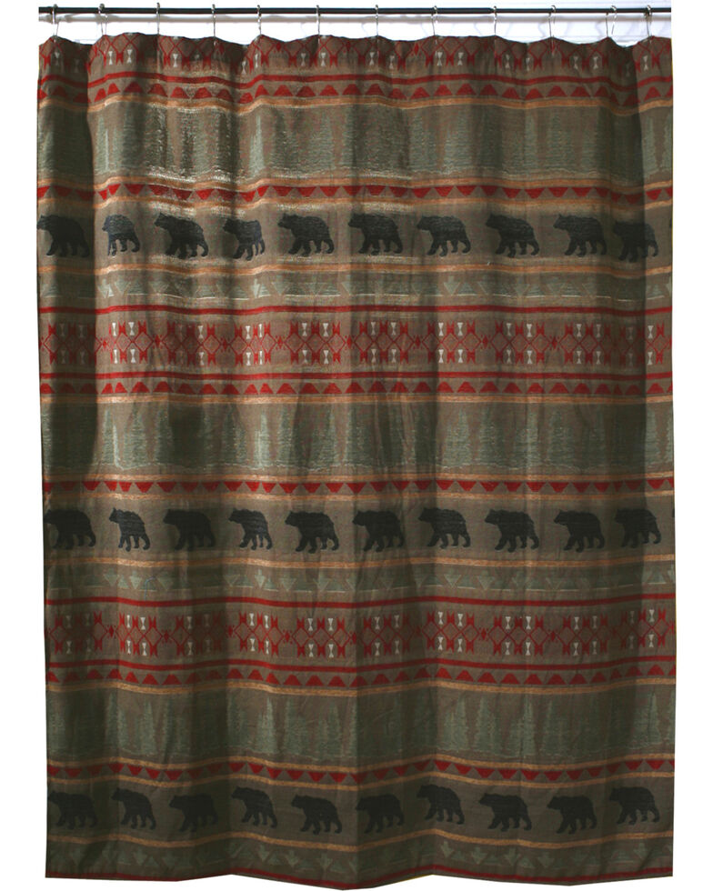 Carstens Bear Country Shower Curtain, Red, hi-res