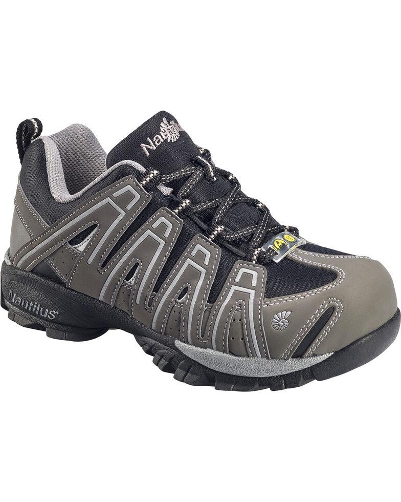 Nautilus Men's ESD  Lace Up Work Shoes, Grey, hi-res