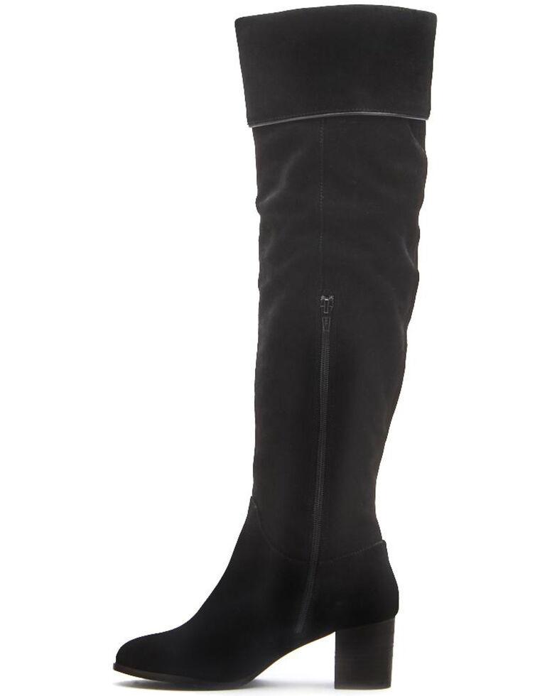 Matisse Women's Black Piper Over The Knee Boots - Snip Toe, Black, hi-res