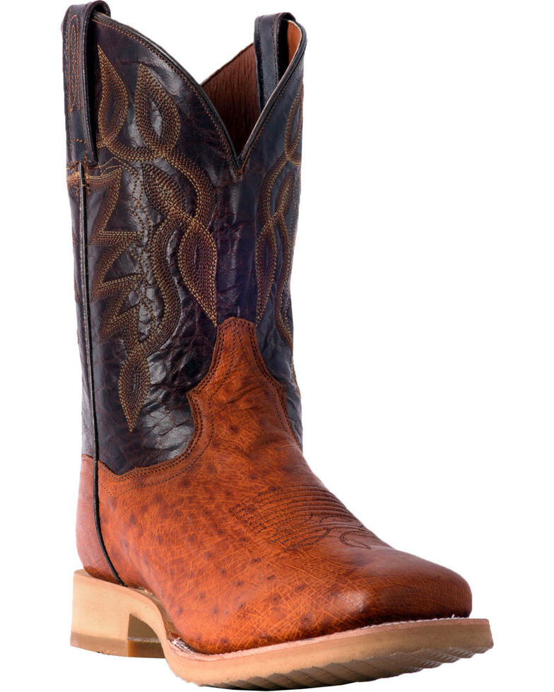 Dan Post Men's Philsgood 2 Smooth Ostrich Cowboy Boots - Square Toe, Cognac, hi-res