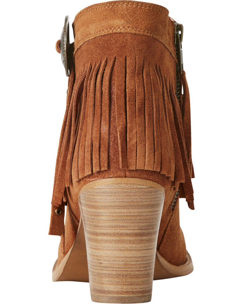 Ariat Women's Unbridled Avery Fringe Concho Booties - Round Toe, , hi-res