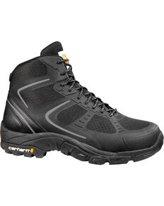 Carhartt Men's Black Lightweight Work Hiker Boots - Steel Toe, Black, hi-res