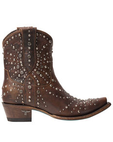 Lane Women's Sparks Fly Fashion Booties - Snip Toe, Cognac, hi-res