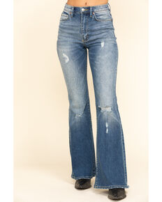 Lee Women's Light Wash High Rise Vintage Modern Flare Jeans, Blue, hi-res