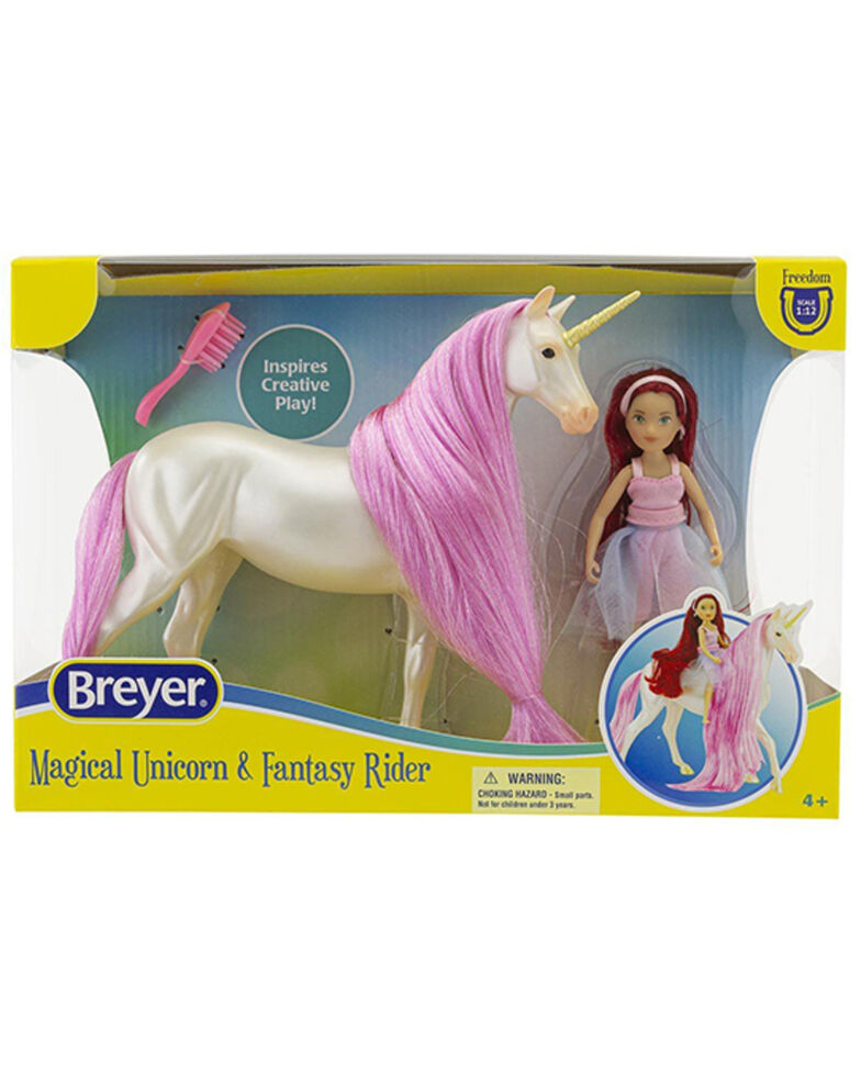 Breyer Girls' Magical Unicorn Sky & Fantasy Rider Toy Set, No Color, hi-res