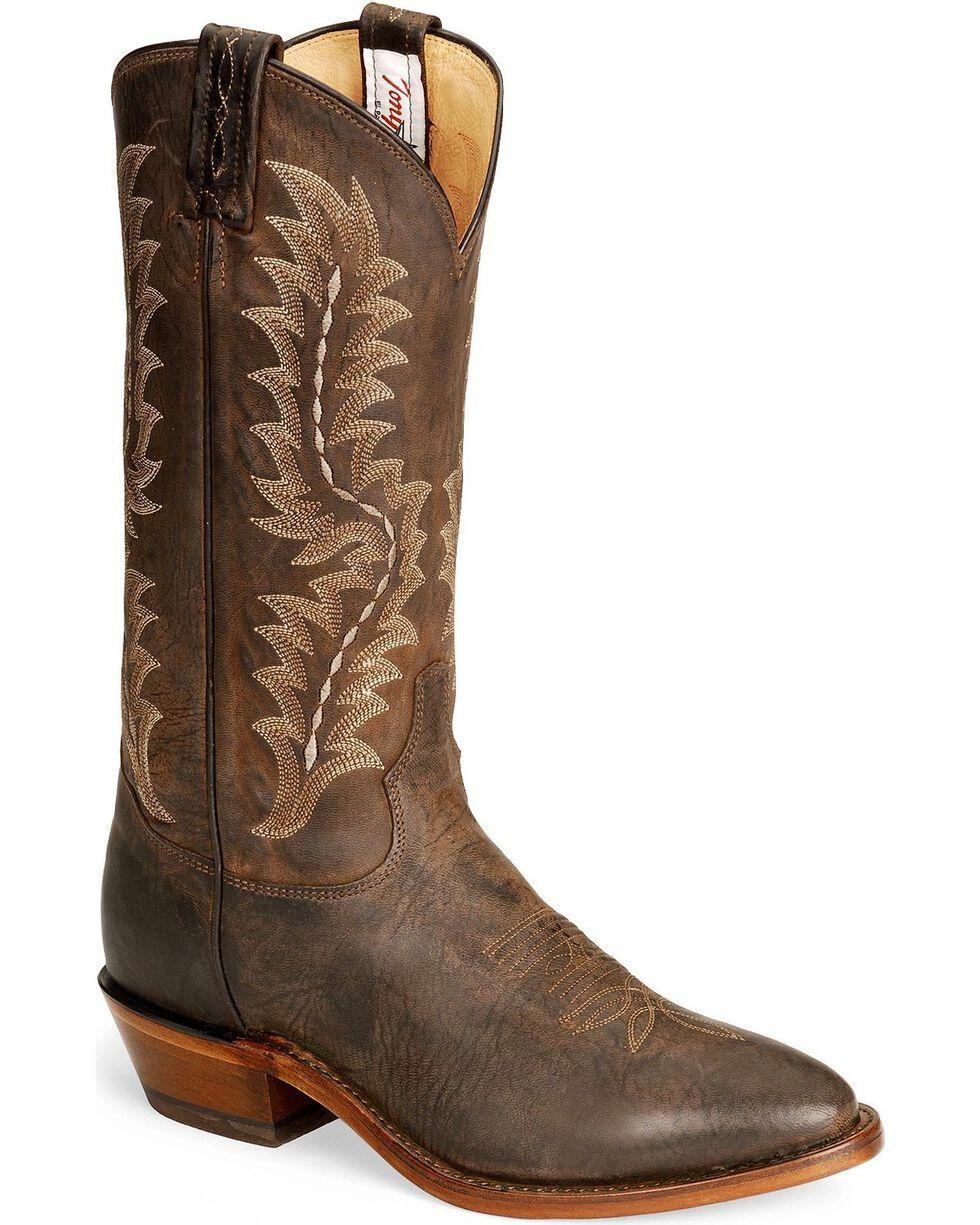Tony Lama Men's El Paso Collection Western Boots, Chocolate, hi-res