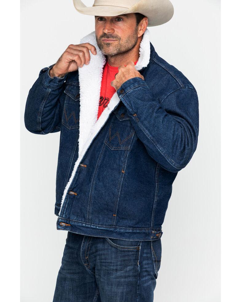 Wrangler Men's Sherpa Lined Denim Jacket, Denim, hi-res