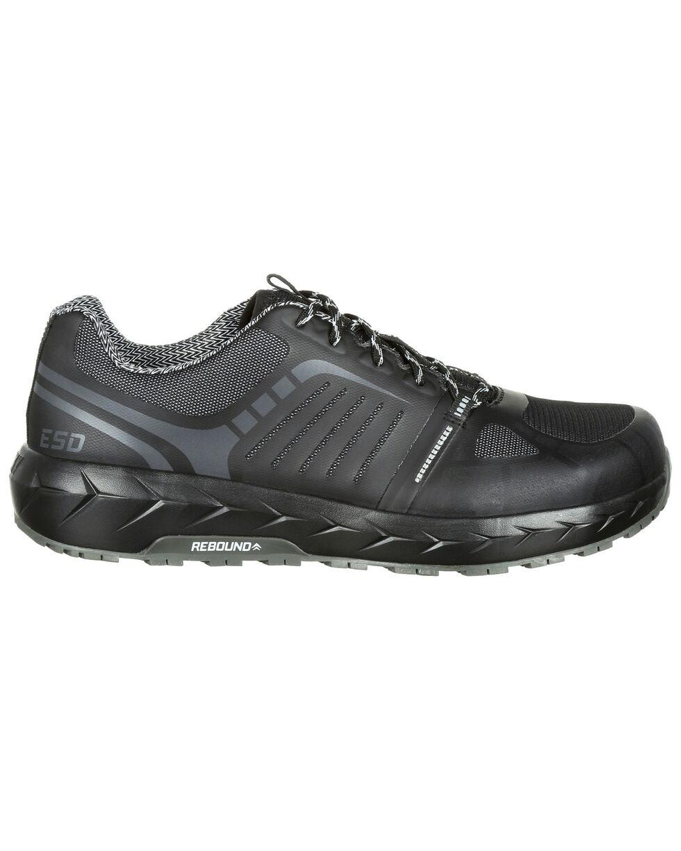 Rocky Men's LX Athletic Work Shoes - Safety Toe, Black, hi-res