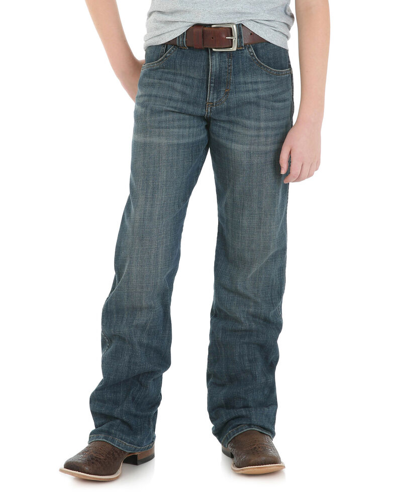 Wrangler Retro Boys' Falls City Relaxed Bootcut Jeans, Blue, hi-res