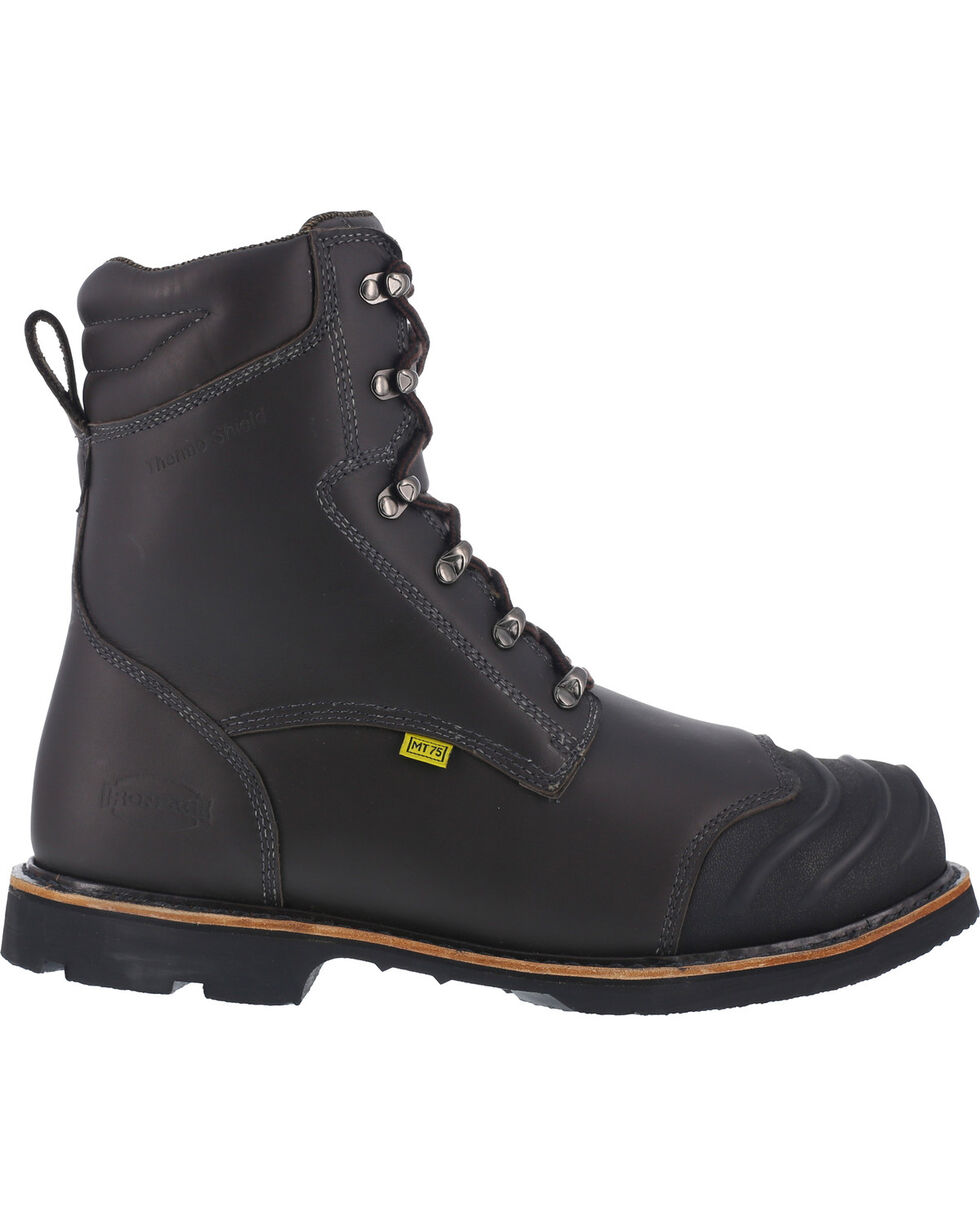 "Iron Age Men's 8"" Thermos Shield Work Boots - Composite Toe, Black, hi-res"