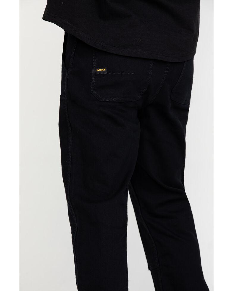 Ariat Men's Black Rebar M4 Made Tough Durastretch Double Front Straight Work Pants , Black, hi-res