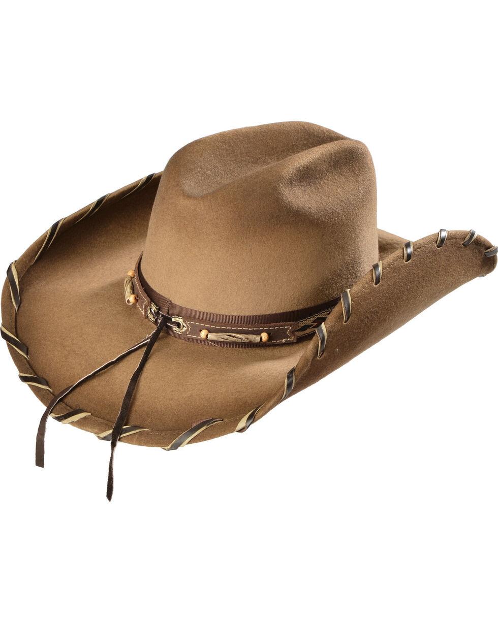 Bullhide Women's Cheyenne Wool Hat, Sand, hi-res