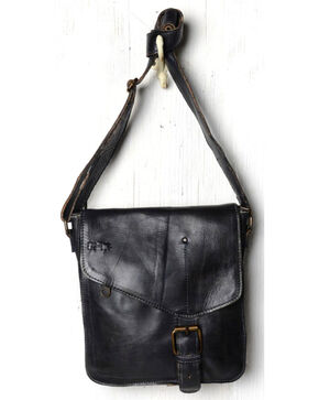Bed Stu Women's Venice Beach Black Rustic Shoulder Bag, Black, hi-res