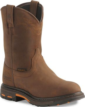 "Ariat Men's 10"" Workhog H2O Work Boots, Distressed, hi-res"