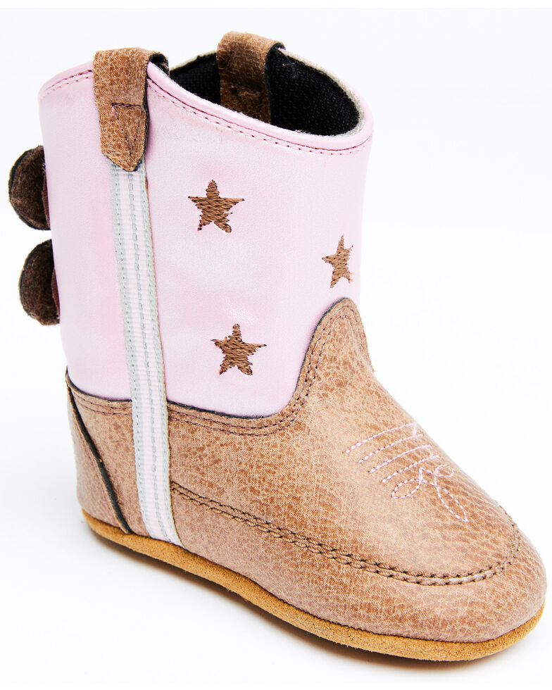 Shyanne Infant Girls' Pink Poppet Little Star Western Boots , Brown/pink, hi-res