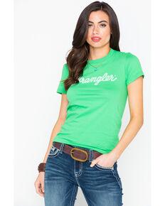 Wrangler Women's Green Rope Logo Tee, Green, hi-res