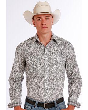 Panhandle Slim Men's Black Vivola Vintage Print Long Sleeve Shirt , Black, hi-res