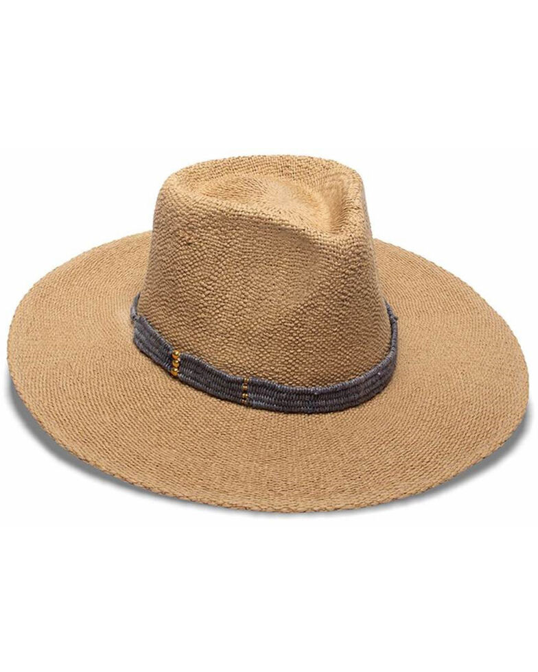 Nikki Beach Women's Toast Grey Sahara Western Straw Rancher Hat , Tan, hi-res