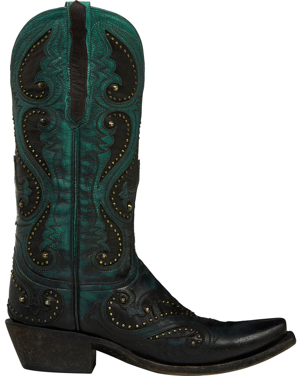 Lucchese Handmade Red Ombre Gemma Cowgirl Boots - Snip Toe , Red, hi-res