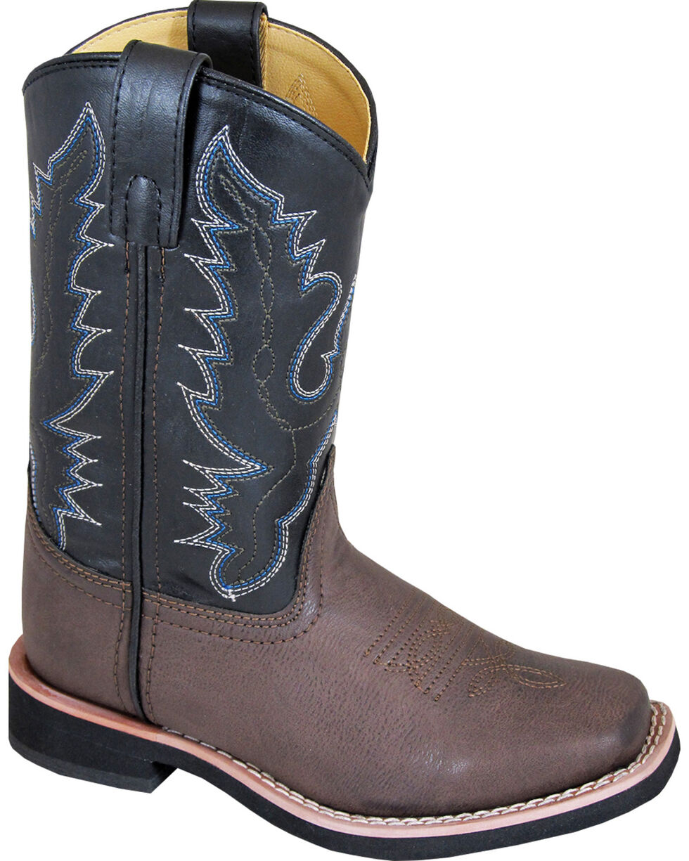 Smoky Mountain Youth Boys' Tyler Western Boots - Square Toe , Brown, hi-res