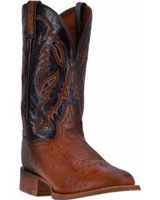Dan Post Men's Conrad Exotic Boots, Chocolate, hi-res