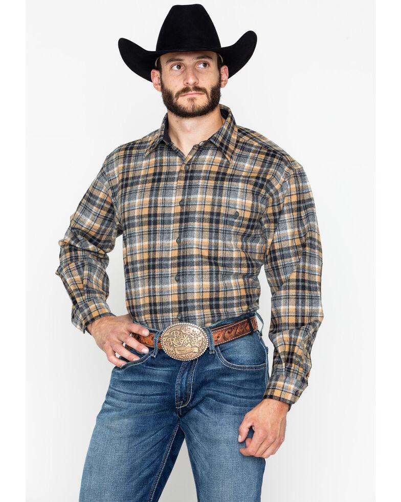 Pendleton Men's Grey Harley Plaid Trail Shirt , Tan, hi-res