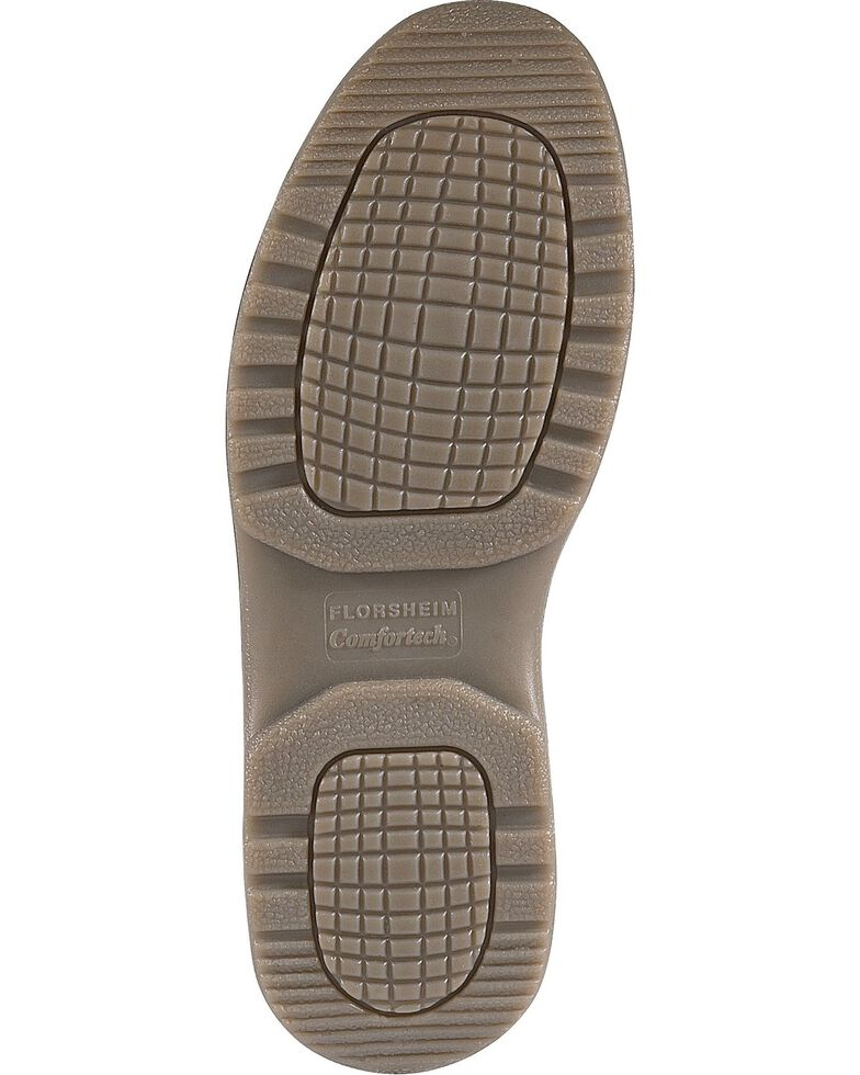 Florsheim Women's Lucky Slip-on Work Shoes - Steel Toe, Brown, hi-res