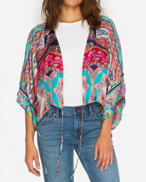 Johnny Was Women's Pink Rainbow Shrug , Multi, hi-res