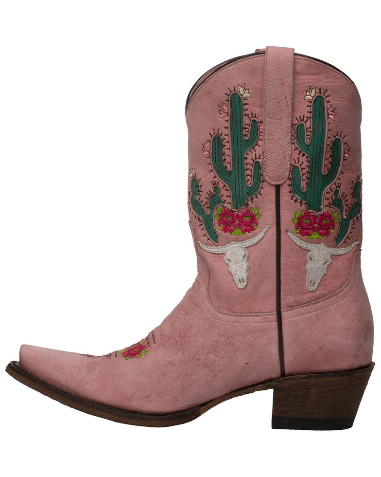 Junk Gypsy by Lane Women's Bramble Rose Western Boots - Snip Toe, Pink, hi-res