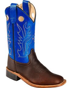 d78540fad Old West Youth Boys  Thunder Cowboy Boots - Square Toe