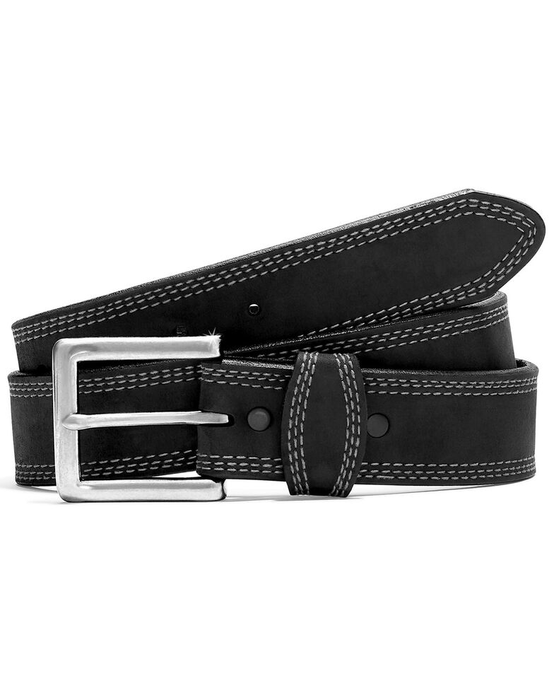 Leegin Men's Triple Stitch Belt, Black, hi-res
