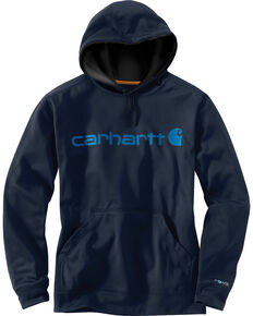 Carhartt Extremes® Force Signature Graphic Hooded Sweatshirt, Navy, hi-res